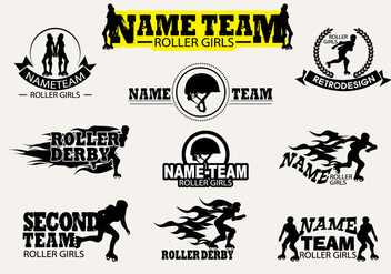 Vector Label Roller Derby - vector gratuit #384797
