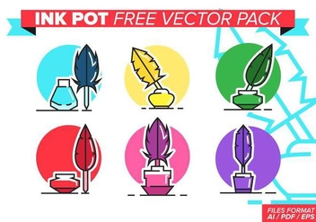 Ink Pot Free Vector Pack - vector #384827 gratis