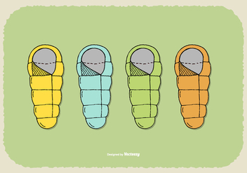 Sleeping Bag Vectors - бесплатный vector #384857
