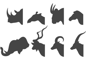 Animal Head Silhouette - vector gratuit #384877