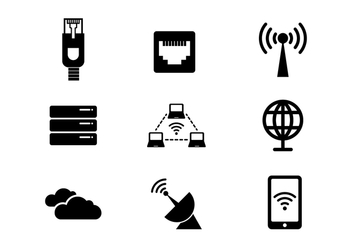 Free Network and Internet Vector Icon - vector gratuit #384947