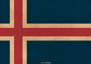 Grunge Flag of Iceland - vector gratuit #384967