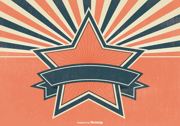 Blank Retro Sunburst Background - Kostenloses vector #384997