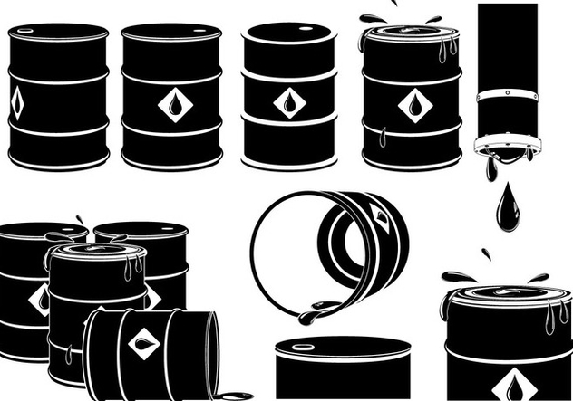Vector Set of Oil Drums - Kostenloses vector #385027