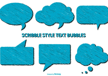 Scribble Style Speech Bubbles - vector gratuit #385037