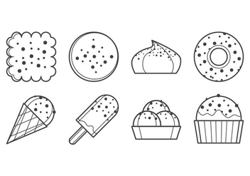 Free Sweet Dessert Icon Vector - бесплатный vector #385047