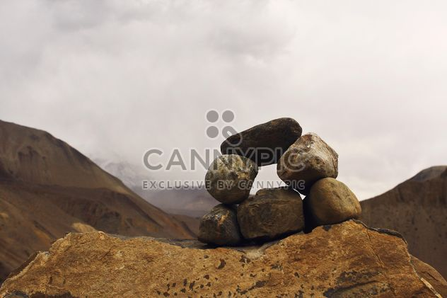 Beautiful view of the Himalayas on the way to Muktinath, Nepal. - Free image #385177