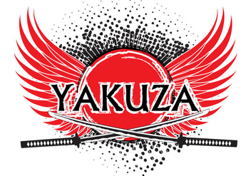 Yakuza logo background vector - бесплатный vector #385237