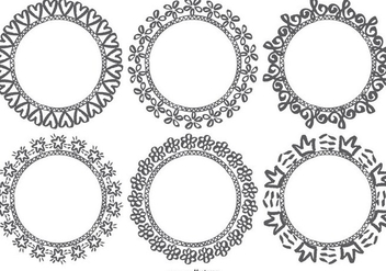 Hand Drawn Doodle Frames - Free vector #385267