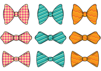 Set Of Cravat Vector - бесплатный vector #385277