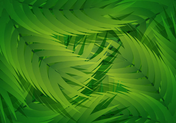 Palm Leaf Liana Background - бесплатный vector #385287