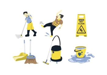 Cleaning Tools Vector - бесплатный vector #385357