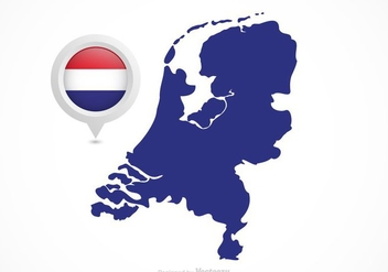Free Vector Netherlands Flag Map Pointer - Free vector #385377