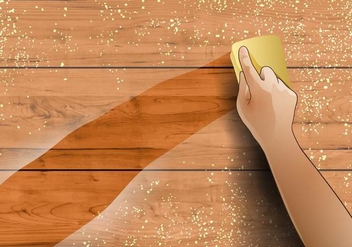 Wipe Dusty Wood - vector gratuit #385397