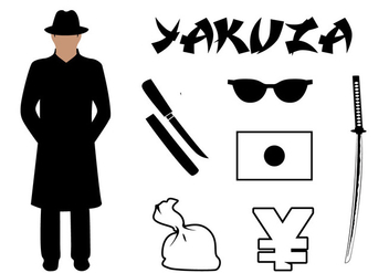 Vector Set Yakuza Symbols Associated Japan - Kostenloses vector #385467