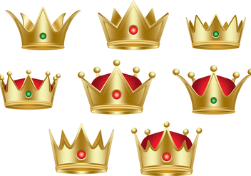 Classic Queen Crown Collection - vector #385487 gratis