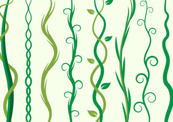 Free Green Liana, Curve Element Vector Illustration - vector gratuit #385497