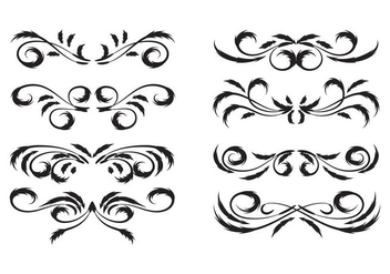 Free Vintage Floral Motifs Vector - Free vector #385517