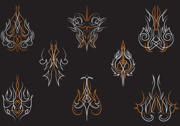 Hotrod Pinstripes Ornament Vectors - Free vector #385557