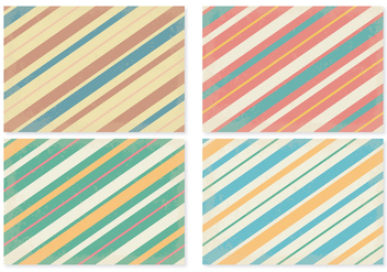 Retro Stripe Patterns - Kostenloses vector #385597