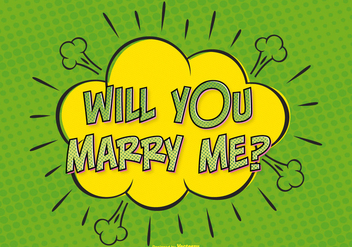 Comic Style Marry Me Illustration - бесплатный vector #385667
