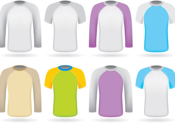 Colorful Raglans - vector gratuit #385707