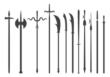 Free Pike and Long Range Melee Weapon Vector - vector gratuit #385747