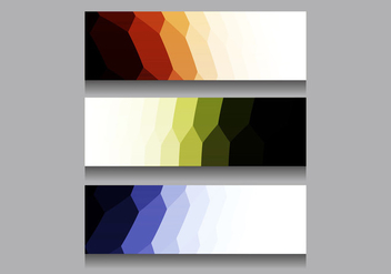Free Vector Colorful Modern Headers - Free vector #385767