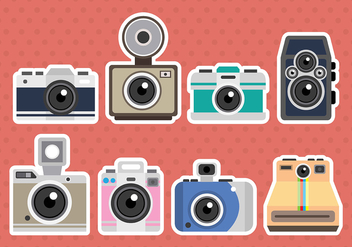 Camera Vector Icons - vector gratuit #385787