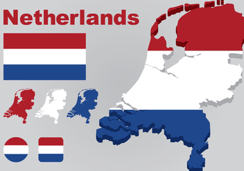 Netherlands Map Vector - бесплатный vector #385797