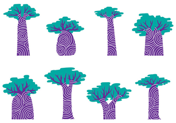 Baobab Ancient Vector - Free vector #386017