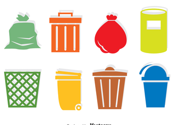 Garbage Icons Vector - бесплатный vector #386047