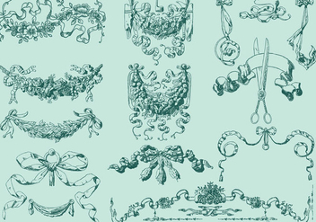 Vintage Ribbons - Free vector #386087