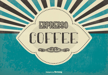 Vintage Espresso Coffee Background - vector gratuit #386117