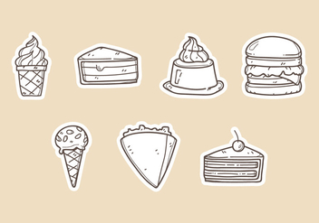 Dessert Vector Illustrations - vector gratuit #386247