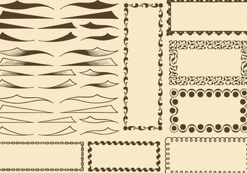 Swishes And Borders - vector gratuit #386267