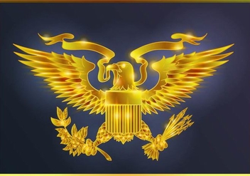 Glowing Gold Presidential Seal - vector gratuit #386317