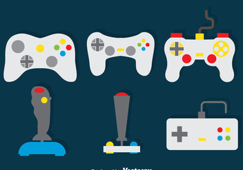 Game Controller Vector Set - vector gratuit #386427