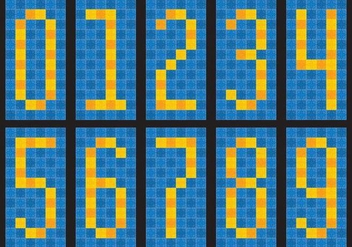Tile Numbers - vector #386457 gratis