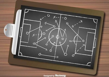 Vector Of Football Plan - vector gratuit #386517