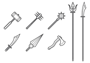 Free Melee Weapon Vector - Free vector #386547