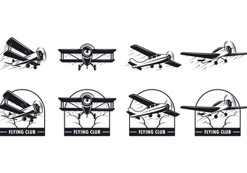 Set Of Biplane Vector - vector #386567 gratis