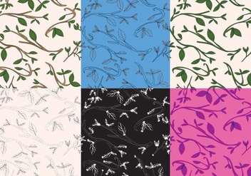 Leaves Texture Set - Free vector #386587