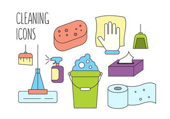 Free Cleaning Vector Icons - бесплатный vector #386617