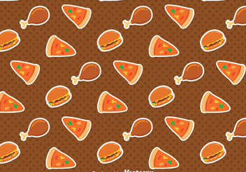Delicious Fast Food Pattern - vector gratuit #386707