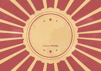 Retro Sunburst Vcetor Background - Free vector #386727