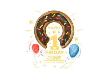 Free Donuts Day Watercolor Vector - бесплатный vector #386807