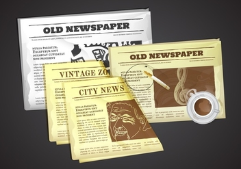 Free Old Newspaper Vector Illustration - бесплатный vector #386857