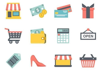Free Shopping Icons Vector - vector gratuit #386887