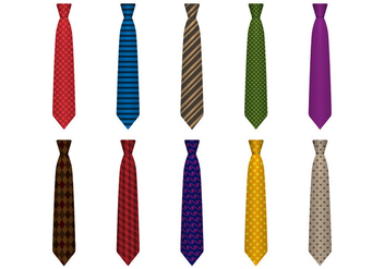 Free Set of Classical Ties Vector - Kostenloses vector #387207